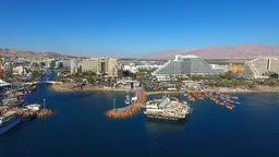Eilat, Israel - Aerial footage over the red sea Footage