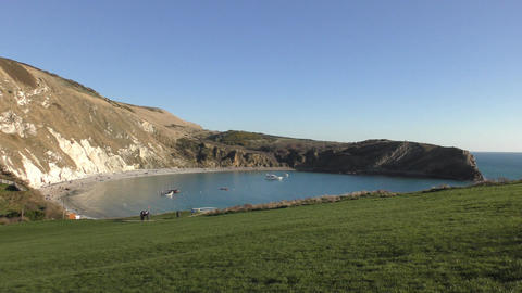 Lulworth Cove. View of the beautiful coast Footage