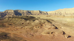 Desert landscape at Timna park - Aerial footage of Timna park, including the Mus Footage