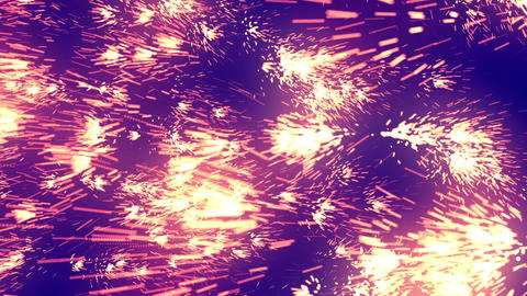 Glow Fireworks Particles Purple Animation