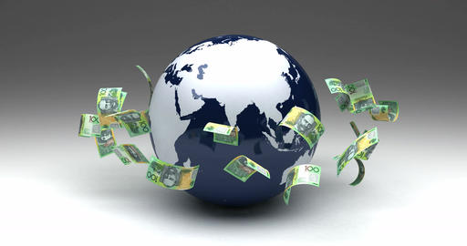 Global Business with Australian Dollars Animation