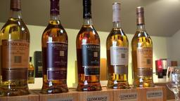 Great Britain Scotland Ross-shire Tain Glenmorangie Scotch Whisky bottles Footage