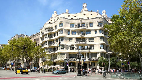 Casa Mila (Mila House) Or La Pedrera In Barcelona Footage