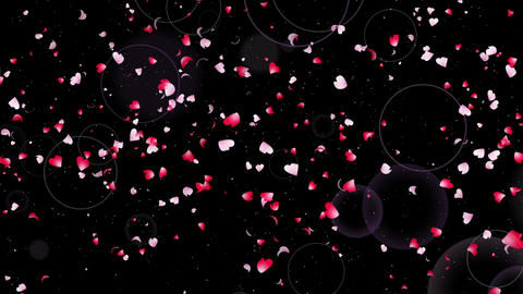 Confetti circle horizontal rotate heartleaf origin noflare Animation