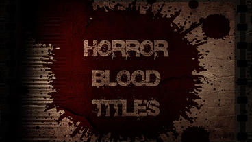 Horror Blood Logo Plantilla de Apple Motion
