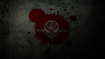 Horror Blood Logo Plantilla de Apple Motion