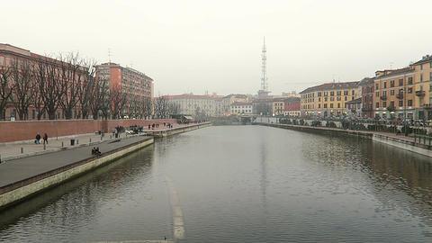 Milan, Italy Navigli district Darsena riverside area