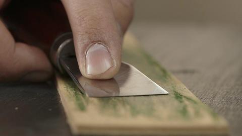 Sharpening and polishing knife Footage