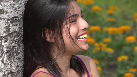 Happiness And Laughter And Teen Girls Footage
