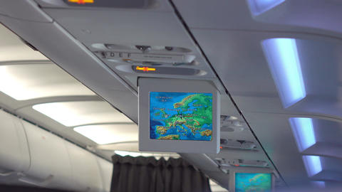 Video of Lcd monitor showing a map in 4K Footage