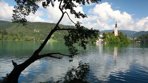 Bled Lake in Slovenia Footage