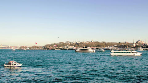 Istanbul turkey bosphorus landscape timelapse Footage