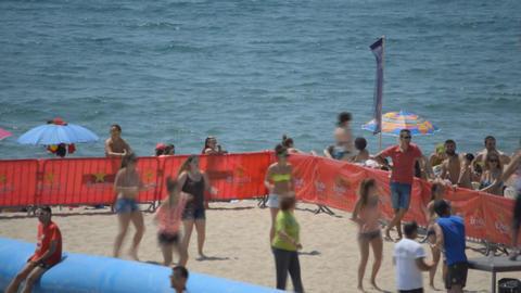 Beach Aerobics Dancing Footage