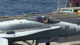 Aircraft Launches and Recoveries Aboard USS George H.W. Bush Footage