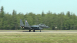 Northern Edge Aircraft Maintainers F-15 Eagle landing Footage