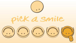 Pick a smile writing and moving animation Animation