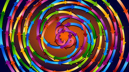 Strong colored spirals fast rotating Animation