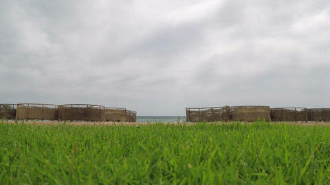 Empty beach resort Footage