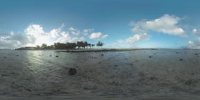 360 VR Scene of Mauritius coast and ocean Filmmaterial