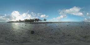 360 VR Scene of Mauritius coast and ocean Footage