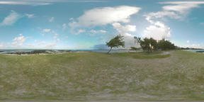 360 VR Landscape of green Mauritius Island Footage
