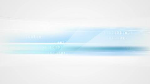 Binary system code blue tech video animation Animation