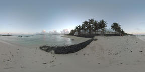 360 VR Evening view of ocean and Mauritius coast ビデオ