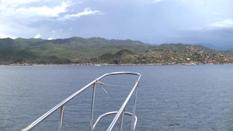 Mediterranean Sea Yacht Sailing Live Action