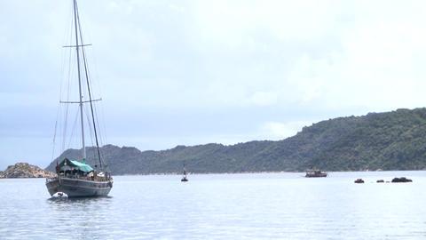 Sailing at Mediterranean Sea Live Action