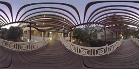 360 VR Evening view of hotel area in Mauritius ビデオ