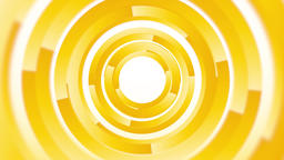 abstract background with yellow rotating circles endless loop Animation