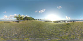 360 VR Landscape of Mauritius at sunset. View from the island edge Filmmaterial