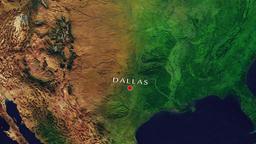 Dallas - United States zoom in from space Animation