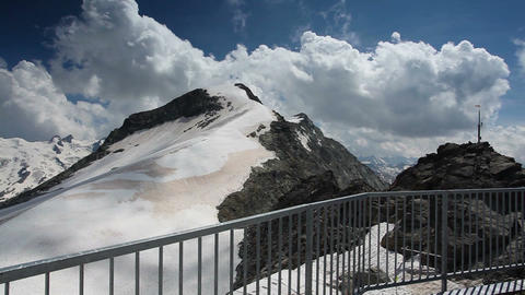 Mountain view from Piz Corvatsch Footage