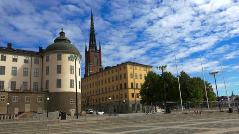 Riddarholmen Church in Stockholm. Sweden Footage