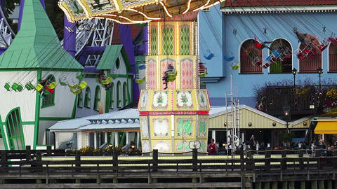 Grona Lund - amusement park in Stockholm. Sweden Footage