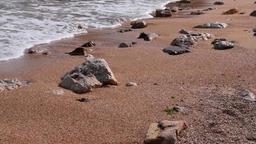 Coast and beautiful beach Filmmaterial