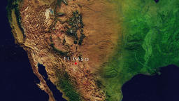 El Paso - United States zoom in from space Animation