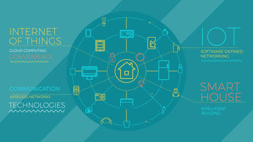 Internet Of Things And Smart Home Infographics Plantilla de After Effects