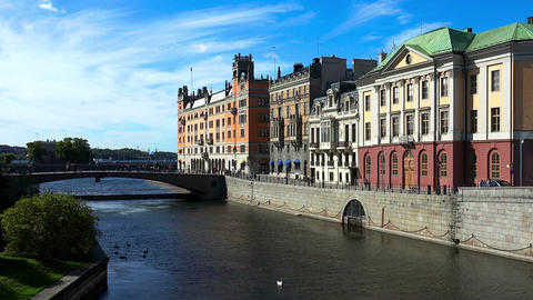 Stockholm. Old town. Architecture, old houses, streets and neighborhoods GIF 動畫