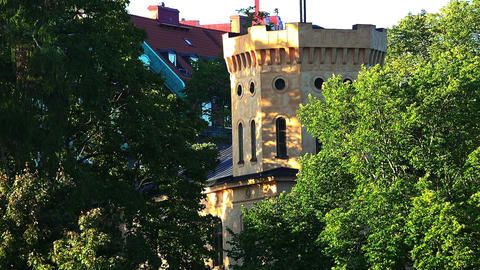 Stockholm. Old town. Architecture, old houses, streets and neighborhoods Live Action