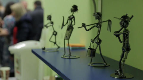 Figurines of People Occupations Footage
