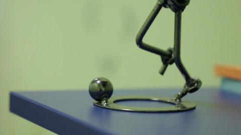 Soccer Player Figurine Footage