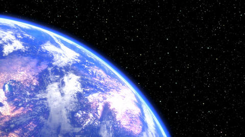 rotating planet earth in space closeup. seamless loop - 3D render Animation