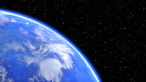 rotating planet earth in space closeup. seamless loop -... Stock Video Footage