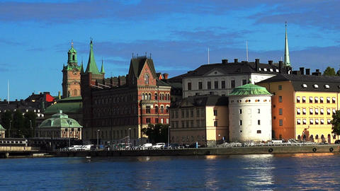 Wrangel Palace in Stockholm. Sweden Footage