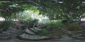 360 VR River bank with boats lying among the trees, Mauritius Archivo