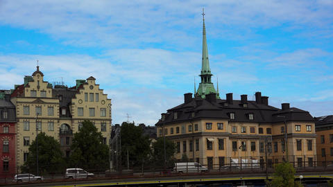 Stockholm. Old town. Architecture, old houses, streets and neighborhoods. 4K Bild