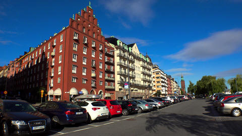 Stockholm. Old town. Architecture, old houses, streets and neighborhoods. 4K GIF 動畫
