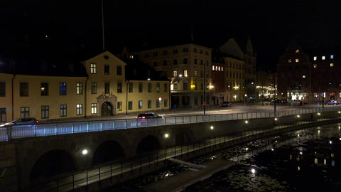 Stockholm. Old town. Architecture, old houses, streets and neighborhoods. 4K. Ni Live Action